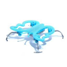 Квадрокоптер «Бабочка», радиоуправляемый, работает от аккумулятора, цвет голубой