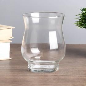 "Подсвечник стекло на 1 свечу ""Вазон"" прозрачный 11,5х9х9см"