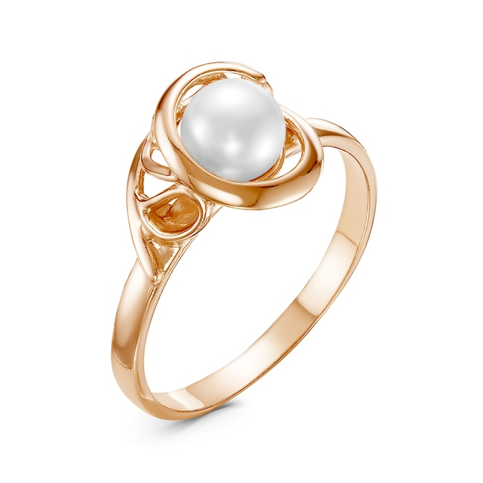 "Кольцо ""Жемчуг"" меланхолия, позолота, цвет белый, 16,5 размер"