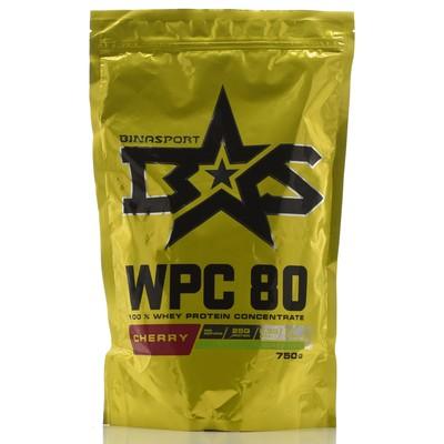 Protein Binasport WPC 80 WHEY PROTEIN 80, cherry, 750 g