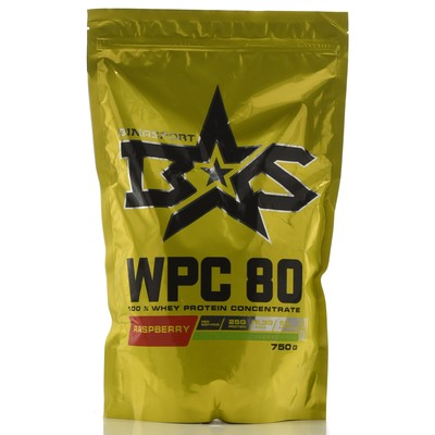 Protein Binasport WPC 80 WHEY PROTEIN 80, raspberries 750 g