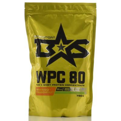 Protein Binasport WPC 80 WHEY PROTEIN 80, mango-maracuja, 750 g