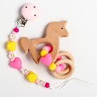 """Подарочный набор: держатель для соски-пустышки и грызунок-прорезыватель  """"Принцесса"""" в наличии - фото 106205521"""