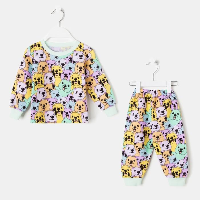 Пижама детская, цвет разноцветный/квокка, рост 104 см