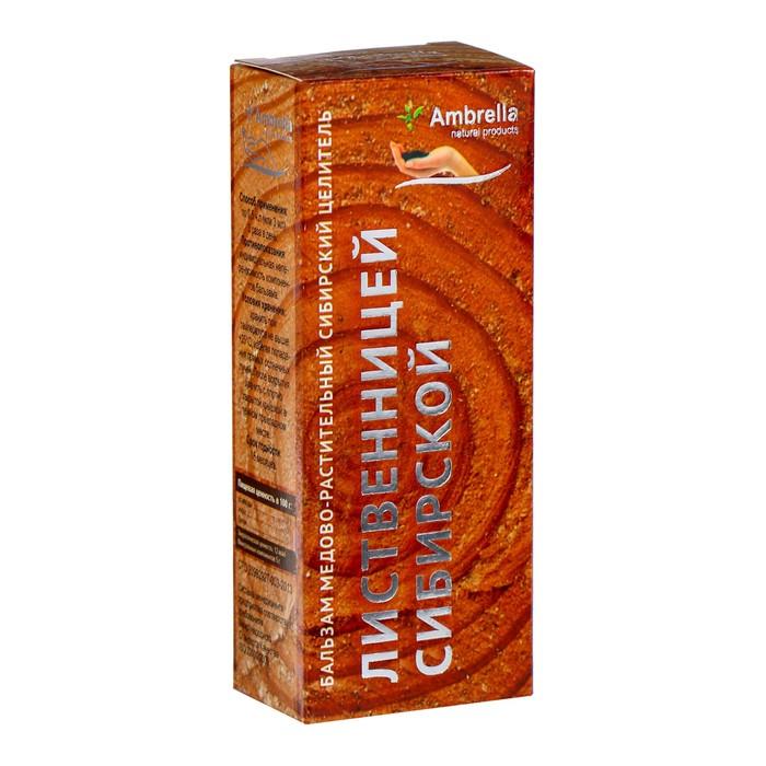 Бальзам медово-растительный Сибирский целитель с лиственницей сибирской, для сосудов, 100 мл