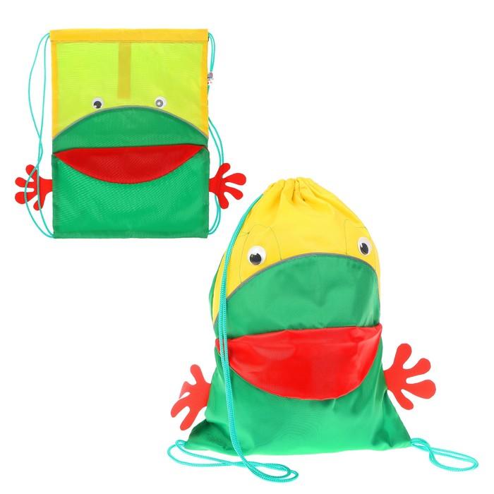 Сумка-мешок «Лягушка», 31.5 × 40.5 см, МИКС