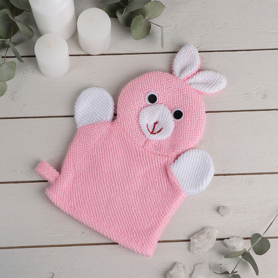 "The sponge-mitten with loop children's ""Bunny"""