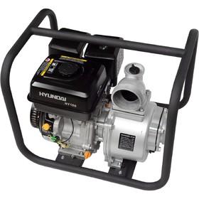 Мотопомпа бензиновая Hyundai HY 100, 6.71 кВт, 1335 л/мин, ручной стартер, для чистой воды