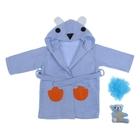 "Набор банный детский ""Мишка"" 3 предмета: халат (возраст 2-3 года), мочалка-игрушка, мочалка"