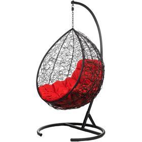 """Подвесное кресло """"Tropica Black"""" (красная подушка) 195*95*75 см"""