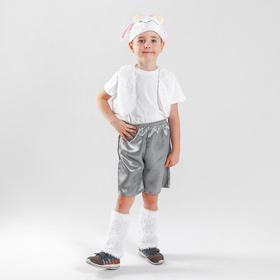 Карнавальный костюм 'Барашек'шапка,жилет,унты,шорты. Р-р32, рост 116-122 Ош