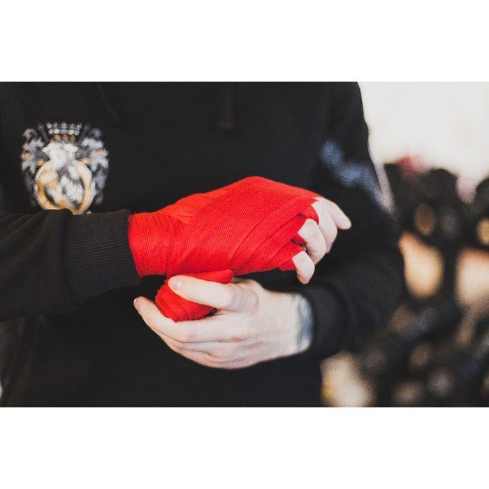 Бинты хлопковые для бокса, длина 3 м, цвет МИКС