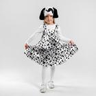 Карнавальный костюм «Далматинец», сарафан 2-ярусный, шапка, р. 30, рост 110-116 см