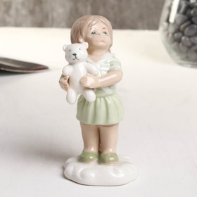 "Souvenir porcelain ""Girl with bear"" green 6x5.2x10.2 cm"