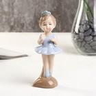 """Souvenir porcelain """"Ballerina"""" blue 4.5x4.5х13 cm"""