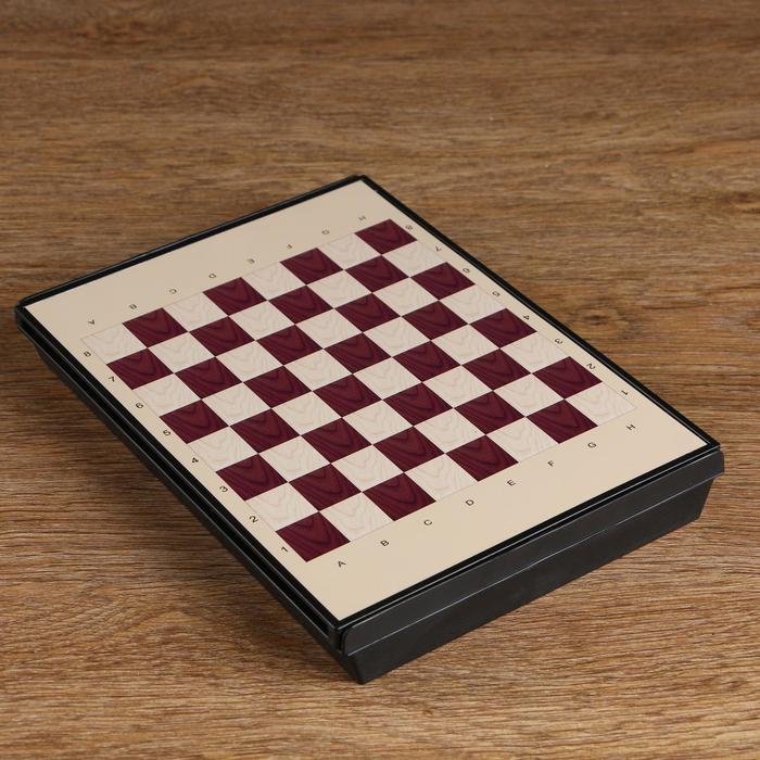 """Игра настольная """"Шахматы средние"""", с ящиком, магнитная, в коробке, 24х18 см"""