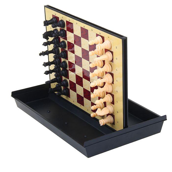 """Игра настольная """"Шахматы большие"""", с ящиком, магнитная, в коробке, 30х22 см"""