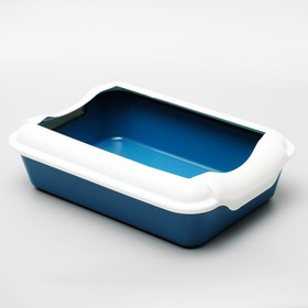 Туалет с бортом, 40 х 11 см, синий/темно-синий - быстрая доставка