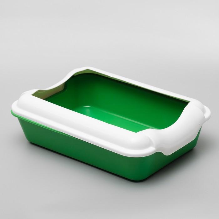Туалет с бортом, 40 х 11 см, зеленый/темно-зеленый