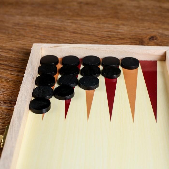 Игровой набор 2 в 1: шашки и нарды, поле 29 × 29 см