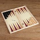 Игровой набор 2 в 1: шашки и нарды, поле 34 × 34 см