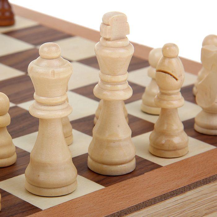 Игра настольная 3 в 1: нарды, шахматы, шашки, поле 40 × 40 см