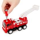 Конструктор винтовой «Пожарная машина», 20 деталей, с отверткой и насадками - фото 105577951