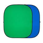 Двухсторонний тканевый фон хромакей Twist, 240 × 240 см, цвет синий / зелёный