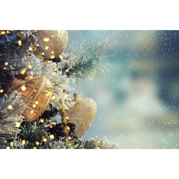 Фотобаннер, 300 × 200 см, с фотопечатью, «Новогодние игрушки»