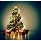 Фотобаннер, 300 × 200 см, с фотопечатью, «Волшебная ёлка с подарками»