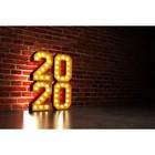Фотобаннер, 300 × 200 см, с фотопечатью, «Новый 2020»