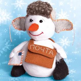 """Набор для создания игрушки из фетра серия """"Снегопочта"""" 16,5 см"""