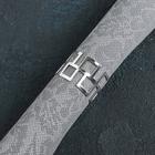 Кольцо для салфетки «Гео», 4,5×3 см, цвет серебро