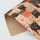 "Kraft paper ""Seals"", 50 × 70 cm"