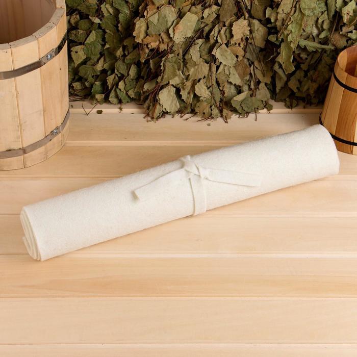 Коврик для бани и сауны «Классический», белый, 160 × 50 см