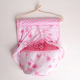 Organizer with hanging pockets, 1 compartment Floral 26x22 cm, MIX color
