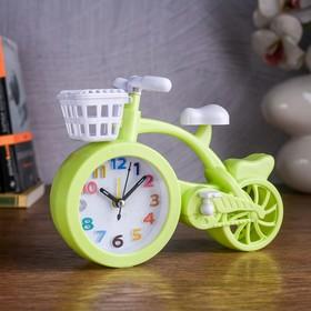 "Часы будильник ""Велосипед"", 19.5х14.5х4 см, микс"