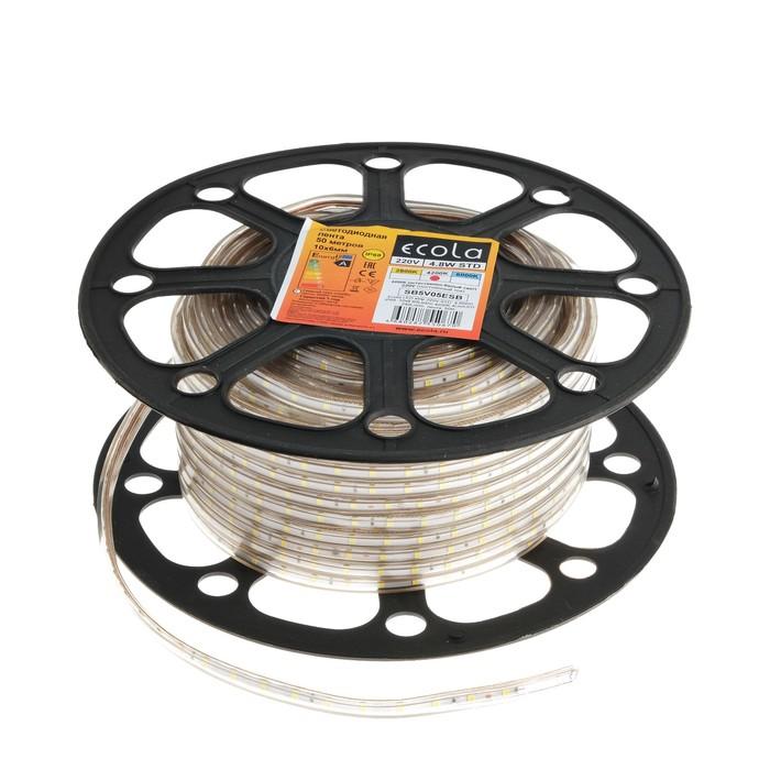 Светодиодная лента Ecola, 60Led/m, 4.8 Вт/м, 240 Лм/м, 4Lm/LED, 4200 К, IP68, 50 м,10 мм