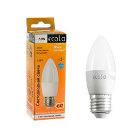 Лампа светодиодная Ecola Light candle LED, E27, 7 Вт, 4000 K, 103x37 мм