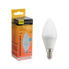 Лампа светодиодная Ecola candle LED Premium, 10 Вт, E14, 2700 K, свеча, 100x37 мм