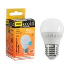 Лампа светодиодная Ecola globe LED Premium, G45, 10 Вт, E27, 2700 K, 82x45 мм