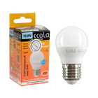 Лампа светодиодная Ecola globe LED Premium, G45, 10 Вт, E27, 6000 K, 82x45 мм