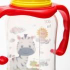 Набор бутылочек для кормления «Зебра» (125 мл, 300 мл.) цвет красный - фото 105537775