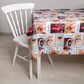"The oilcloth a dining room on the fabric (roll 20 metres), width: 140 cm ""Bagels"""