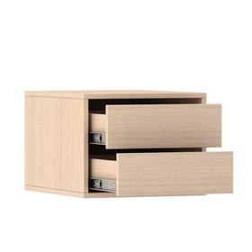 Блок ящиков для шкафов-купе 1400 × 600 мм и 2100 × 600 мм, цвет дуб молочный
