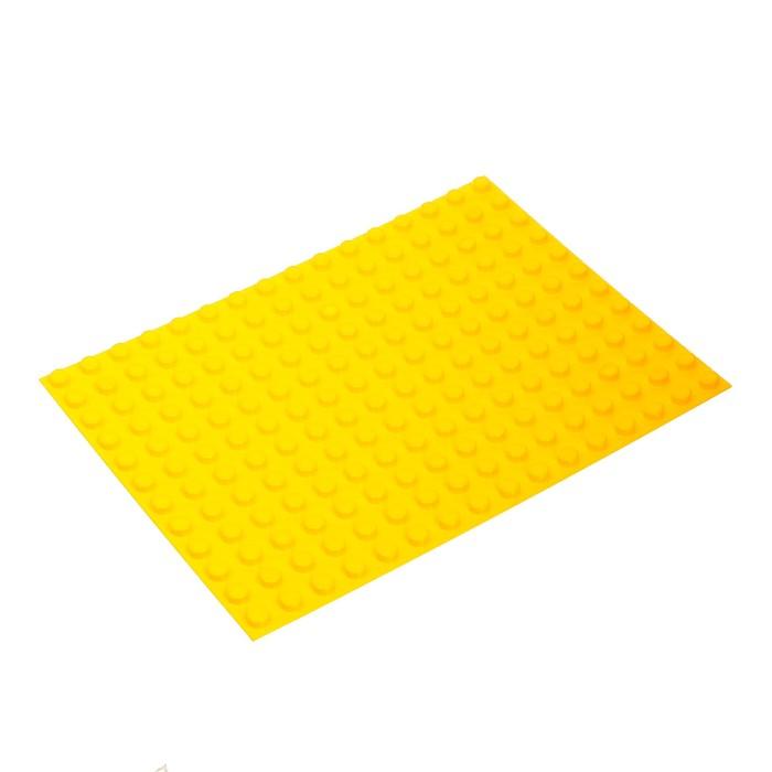 Пластина-основание для конструктора, малая цвет Желтый 25,5 х19 см - фото 76268591
