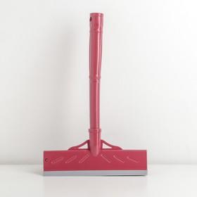 Окномойка с пластиковой ручкой и сгоном, 22×5×34,4 см, поролон, цвет МИКС