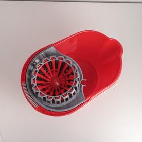 Ведро с отжимом, 16 л, цвет красный - фото 4645167