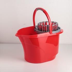 Ведро с отжимом, 16 л, цвет красный - фото 4645168