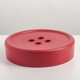 Контейнер для хранения с крышкой QLux «Пуговка», 23,5×23,5×5,5 см, цвет МИКС
